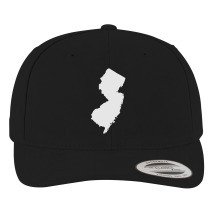 ed22d46ce09 NJ Map Snapback Hat (Embroidered)