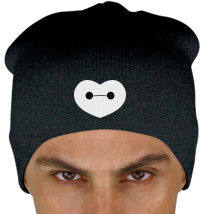 15e7c0217f5f5 Big Hero 6 - Baymax Shaped Heart Knit Beanie (Embroidered ...