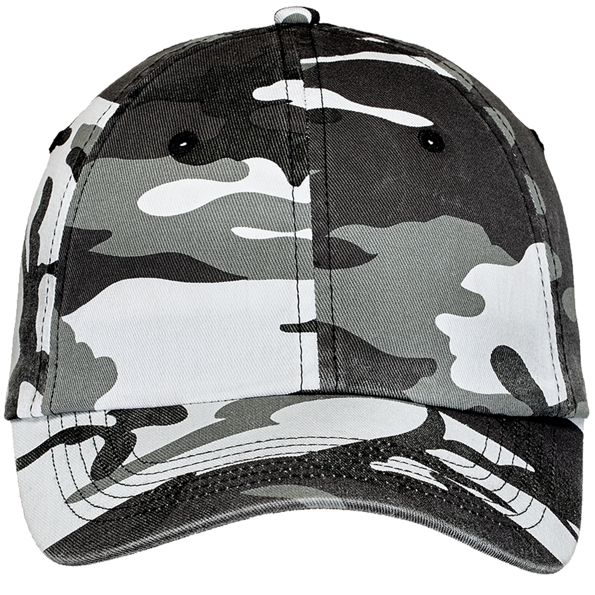 Custom Camo Cotton Twill Caps | Hatsline - Embroidery front